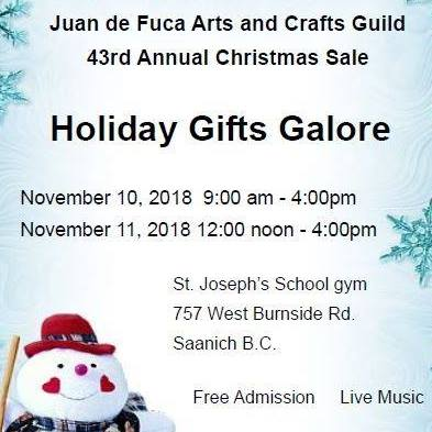 Holiday Gifts Galore - Juean de Fuca Arts & Crafts Guild