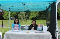 Summer student Kristi Hoffman and director Christine Bhopalsingh handled the WSAC booth