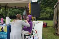 The WSAC hired a face painter to decorate the children