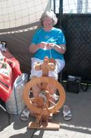 A spinner at the artisans' section