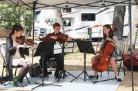 Students from the Royal Conservatory of Music welcomed ticket holders to Fort Rodd Hill