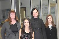 WSAC President Laura Davis, Academy owner Sabine David and two young singers