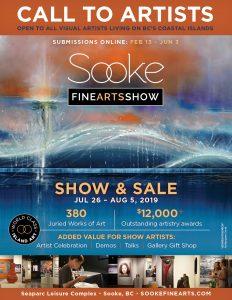 Call to Artists - 2019 Sooke Fine Arts Show