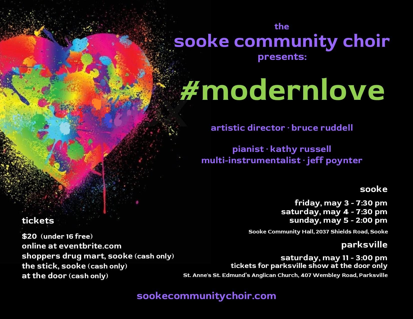 #modernlove with The Sooke Community Choir