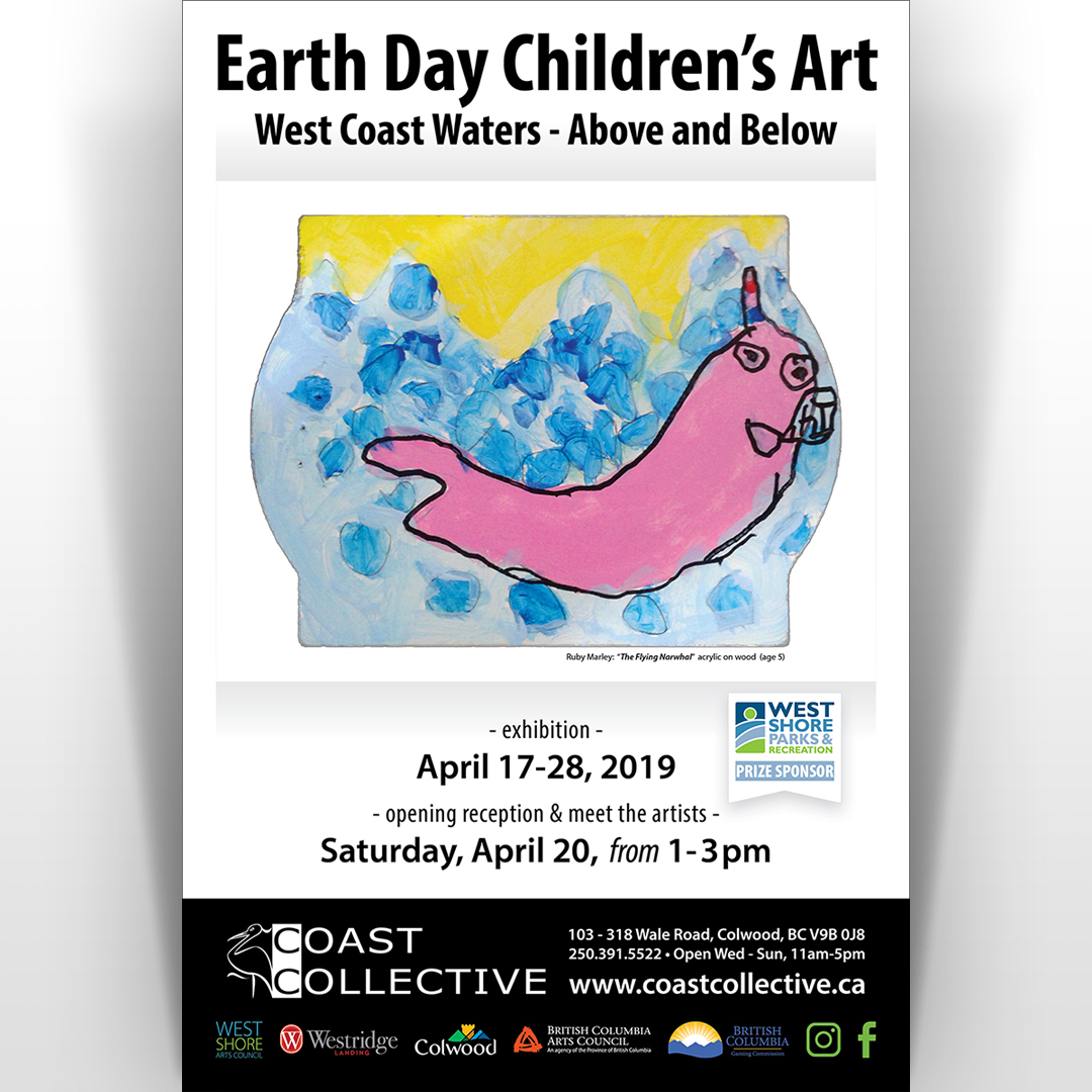 Earth Day Children's Art - West Coast Waters: Above and Below